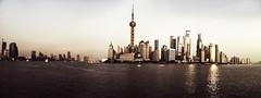 Shanghai City (EdouardBecavin) Tags: world china city travel november winter light urban color landscape gold amazing cityscape shanghai pentax district panoramic magical chine 2012 unbelievable huangpu lujiazui