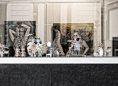 Head on a Shelf (Wormsmeat) Tags: london londonstreetphotography candid artgallery panasonic dmcgm5