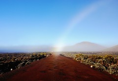 La Plaine des Sables (clotildegaudicheau) Tags: blue en arc ciel piton runion plaine sables fournaise