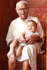 Grandfather and baby (Exploring Photography (Suchitra)) Tags: people baby india grandfather