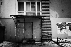 () Tags: life street red blackandwhite black monochrome wall doors horizon ghost gothic grain surreal gift intriguing vignette           romantism