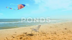 Chaise lounge on the beach, the sea and a kite. This video is on sale to the address: (daria.boteva) Tags: beach time background ball holiday kite word sea flying sand collection shell star sun lifebuoy sky fish sunlight decoration chair flop shore sunglasses tropical mesh elements umbrella coral title sunshine shape season rays flipflop realistic flip colorful seashore lounge nature vacation editable starfish ocean chaiselounge color day summer
