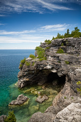The Grotto (Mark Heine Photos) Tags: ontario canada rock arch georgianbay aquamarine cliffs limestone cave brucepeninsula entrace thegrotto thebrucetrail indianheadcove turqoisewater markheine