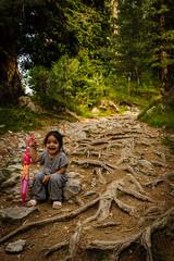 Bliss (Asad Ijaz Raja) Tags: kid hiking mountain forest trek pakistan nathiagali miranjani happiness joy roots trees