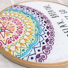 Festival Mandala (Bustle & Sew) Tags: hoop mandala handstitching handembroidery bustlesew