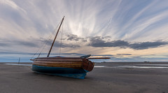 All on your lonesome (SiKenyonImages) Tags: sunset sky beach boat drama merseyside meols