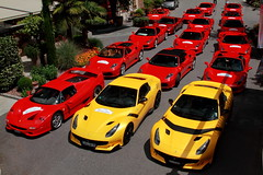 Prancing horses (D.N. Photography) Tags: ferrari red yellow f12 f12tdf tdf transportation eos exotic exotics automotive auto automobile automobiles italy lana south tyrol vehicle vehicles canon cars car prancing horse horses 7d supercars supercar f50 f430 458 spider 360 488 gtb