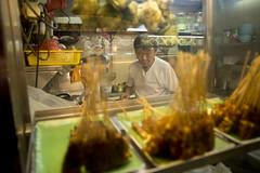 Satay (PJHarrison) Tags: street travel food singapore southeastasia market malaysia dining satay hawkers skewers
