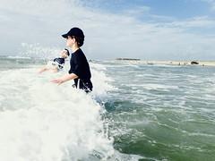 Joy {164/366} (therealjoeo) Tags: summer beach water texas wave shore 365 splash padreisland 366 365project