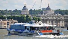 Aurora Clipper @ Greenwich 24-06-16 (AJBC_1) Tags: uk england london boat ship unitedkingdom greenwich transport vessel transportation riverthames eastlondon nikond3200 hurricaneclipper touristboat passengerboat riverbus thamesclipper ornc auroraclipper dlrblog mbnathamesclipper ajc