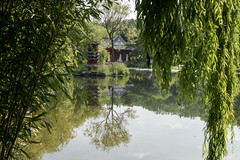 Berlin-Marzahn, Grten der Welt, Chinesischer Garten: Spiegelungen im See - Reflections on the lake of the Chinese Garden (riesebusch) Tags: berlin marzahn chinesischergarten grtenderwelt