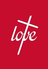 Love Cross (Tyler Neyens) Tags: love cross christian bible jesus 1john419 typography scripture galatians52223 fruitofthespirit design red god sacrifice welovebecausehefirstlovedus
