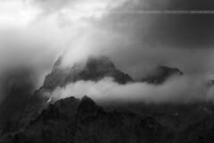 Pointe de l'Aiglire ( Hautes-Alpes / France ) (Yannick Lefevre) Tags: bw france alps monochrome montagne alpes landscape nikon europe raw nef tripod peak mount manfrotto hautesalpes nikkor70300 d700 photoshopcc pointedelaiglire lightroomcc