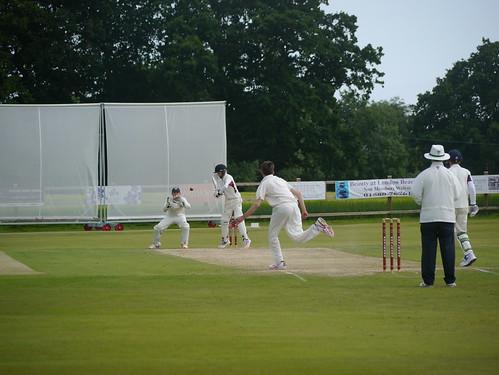 Balfour beats the batsman in his opening spell