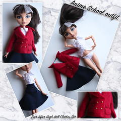 Anime school set EAH (So-Chic) Tags: cute outfit doll dolls cosplay clothes lolita kawaii sweetlolita taigaaisaka schoolset monsterhigh everafterhigh