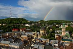 Perfect Picture of Lviv (tarmo888) Tags: rainbow lviv ukraine medieval unesco lvov  lww lemberg  lwow leopolis ukrayina photoimage  sooc sonyalpha   ratusha autohdr sony geosetter  geotaggedphoto nex7 sel18200 foto year2016