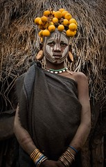 Mursi Girl (Rod Waddington) Tags: africa african afrika afrique ethiopia ethiopian ethnic etiopia ethnicity ethiopie etiopian thiopien omovalley omo omoriver mursi tribe traditional tribal culture cultural mago portrait girl tradition outdoor people painted face