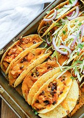 Red Chile Chicken an (alaridesign) Tags: red chile chicken black bean tacos