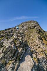 Lake District  May 2016 (48) - Jayne on Sharp Edge (Mark Schofield @ JB Schofield) Tags: england sky cliff woman lake mountains english rock canon walking landscape outdoors high path top district lakes scenic peak sharp hills national edge cumbria fells trust summit moors horseshoe northern gill tarn crags wandering cairn newlands arete coledale ghyll grisedale mountainspark 5dmk3