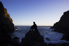 ANDRW on ROCK (Alec (Rebel T3i)) Tags: ocean rock pose coast highway rocks mood power pacific cove candid pch partington oceanpower
