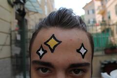 Mente brillante (robin_mush) Tags: stars shiny mind mente brillante clever body painting project