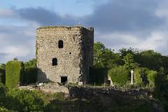 Le château de Dunollie vu depuis le ferry