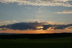 Strahlen durch Wolken. Rays through clouds (st.klaus612) Tags: sonnenuntergang sunset sunlight sonnenlicht sonne sun deutschland germany germania bayern bavaria wolke cloud wolken clouds natur nature landschaft landscape wow wald forest wood panasonic tz101 rays sunbeams sonnenstrahlen beams sunrays