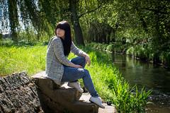 Am Schwarzwasser (stephanwenzel) Tags: love water canon river girlfriend treppe bach dxo ufer biglove bautzen haslow dreikretscham eos700d