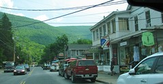 MAIN STREET PHOENICIA (richie 59) Tags: auto street trees newyork cars car rural america buildings automobile mainstreet unitedstates weekend country sunday vehicle newyorkstate storefronts sidewalks smalltown taillights backend phoenicia 2016 ulstercounty motorvehicle phoeniciany ulstercountyny 2010s richie59 townofshandaken townofshandakenny june2016 june262016