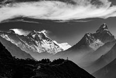 Everest, Lhotse and Ama Dablam. (brendan_reeves) Tags: nepal khumbu everest lhotse amadablam