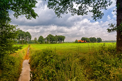 Window Of Twente (Alfred Grupstra Photography) Tags: trees water grass clouds landscape ditch nederland meadow nl overijssel tubbergen