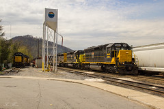 T31 at Canton, North Carolina (travisnewman100) Tags: railroad blue train north ridge southern carolina freight canton manifest sd45 emd sd402 shortline wamx t31 leasers