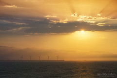 Energias renovables (Mimadeo) Tags: ocean sunset sea sky sun mill water windmill landscape energy power wind alternativeenergy turbine alternative windturbine windfarm sustainability renewable ecological windpower windenergy renewableenergy windturbines greenenergy sustainableenergy puntalucero eolicpark puntaluzero