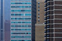 No sky (aleadam) Tags: building architecture geometry wall window square straight skyline manhattan brooklynbridge