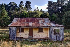 Old house, Kimbell, Canterbury, New Zealand (brian nz) Tags: old newzealand house building abandoned home farmhouse rural decay farm cottage canterbury aged derelict dilapidated deterioration kimbell whare oldandbeautiful oncewashome