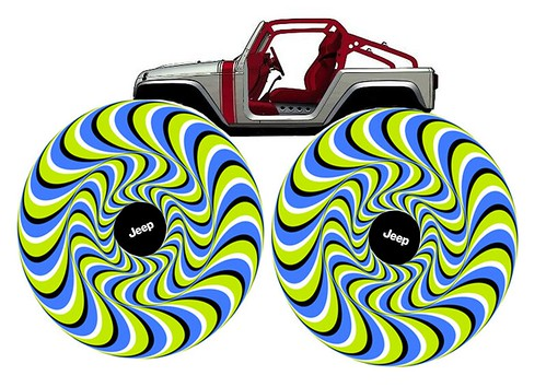 Jeep Wrangler Pork Chop Optical Illusion