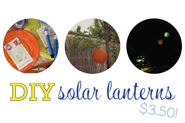 create your own solar lantern