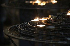 Lit Candles at Notre Dame Cathedral