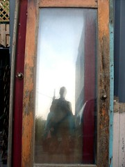 I've Been Framed! (Georgie_grrl) Tags: selfportrait toronto ontario reflection me glass frames doors moi kensingtonmarket selfie mydarkpinkside samsungd760 itswasntmeiswear