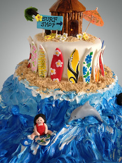 Beach surf cake