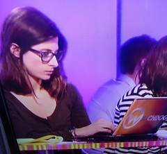 Girl with glasses researcher on BBC Watchdog (GirlsWithGlassesGallery) Tags: bbc screencap watchdog researcher girlswithglasses bigglasses girlswearingglasses boldglasses girlswithglassesontv womenwearingglassesontv