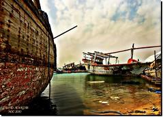 OLD SHIPS YARD (jawadn_99) Tags: wood old sea lake art water yard ship vivid boom explore kuwait dhow woodenship supershot abigfave flickrdiamond 60favorites magicunicornmasterpiece mygearandme