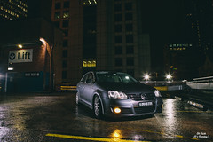 OFIM Jetta (OFIMBlog) Tags: light car rain st vw canon golf grey shoot photoshoot flash sydney rainy jetta forge carpark strobe intake coilovers mkv mk5 mark5 ofim viezu