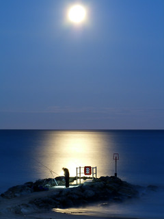 Moon light fishing.