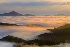 Sea clouds (Maurizio Fontana) Tags: light sunset sea italy cloud mountain lake fog clouds lago gold nikon italia tramonto nuvole mare nuvola liguria nebbia montagna luce oro d800 giacopiane aiona