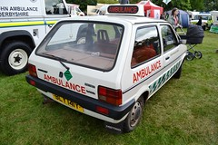 1982 Austin Metro Mark I Police Car – BLY 141Y (Paul D Cheetham) Tags: classic cars car austin four 1982 metro mark police ambulance vehicles lee vehicle service petrol straight emergency 13 derby reynolds litre livery aseries i 1275cc bly141y