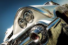 Dodge 1959 Custom Royal (ISP Bruno Laplante) Tags: old blue light sky white classic car vintage nikon head royal voiture bumper chrome 1957 dodge nikkor custom f28 d800 classique 2470mm