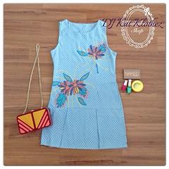 """#YourMoments @your_moments DJ Kat Klothez 6 BB126 Flower Dress ราคา: 490- สถานะ: ส่งฟรี EMS สินค้า : พร้อมส่ง สี: ตามภาพ Size M  อก: 32-34 เอว: 25-26 สะโพก: 34-36 ความยาว: 33"""" เนื้อผ้า: ผ้าทอเนื้อนิ่ม Detail : เดรสสั้นผ้าสียีนส์ทอ  ชุดนี้ ใส่ออกมาทรงสวยมา"""