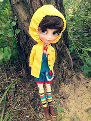 Sous les branches (muina*3*) Tags: cute toy toys doll dolls cutie pullip lovely raincoat hani isul lovelyboy