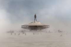 BRC - The Man in a dust storm (sadaiche (Peter Franc)) Tags: california man festival desert nevada ufo burningman burning brc theman